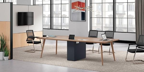 极简办公家具打造现代会议室