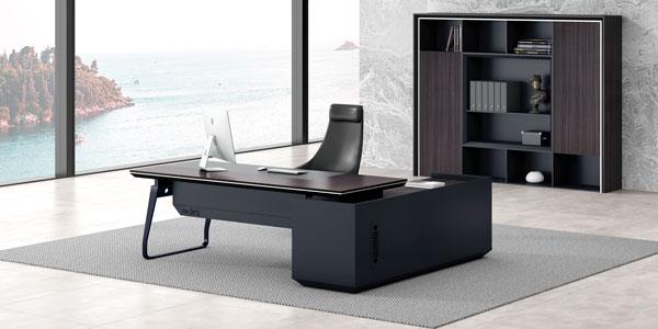 福玛仕办公家具|尚睿系列经理办公台书柜组合展示