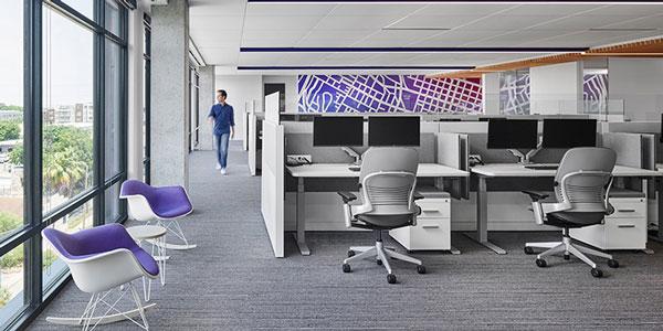 国外办公家具运用案例欣赏:轻熟优雅风 软件公司Sas奥斯汀办公设计