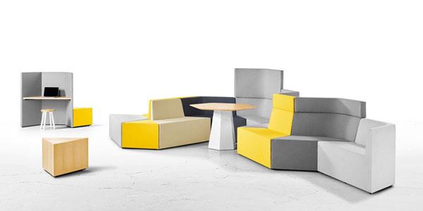 国外优秀办公家具产品分享:灵动办公Prisma休闲沙发组合系列