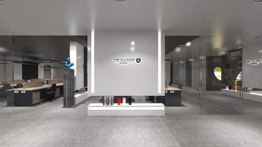 中山办公空间设计+办公家具定制项目|时刻联盟的商业空间创意设计