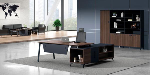 福玛仕办公家具|维纳系列板式经理桌文件柜组合展示视频