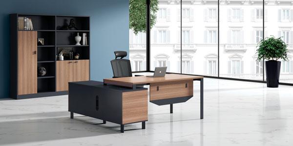 福玛仕办公家具|维加系列经理办公桌文件柜组合实物展示视频