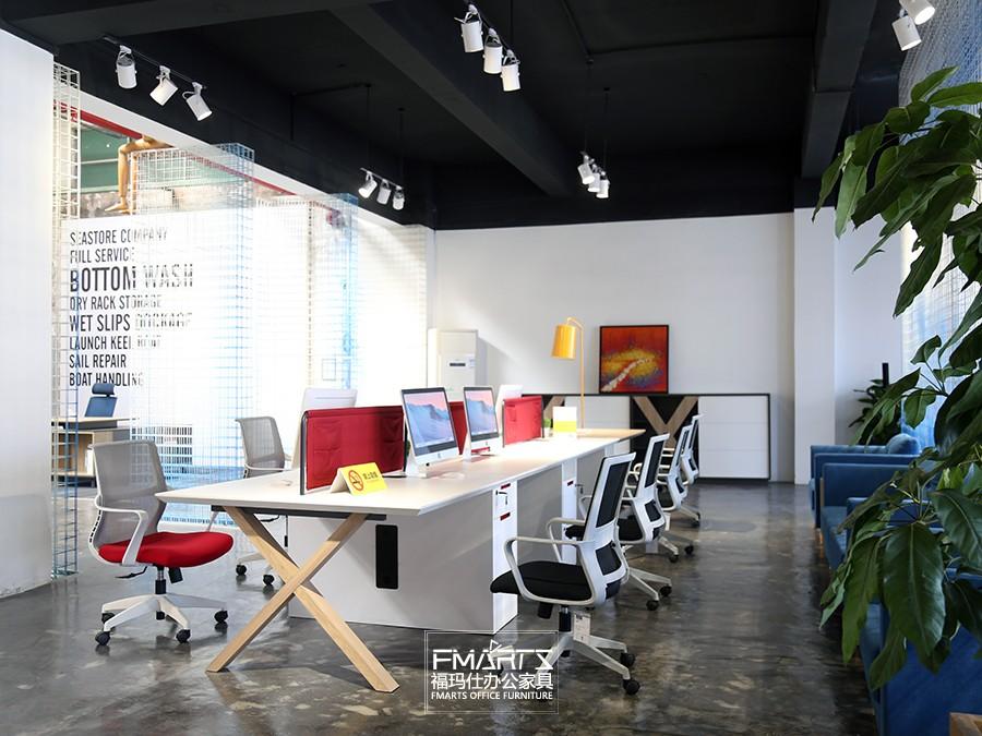 现代板式职员桌