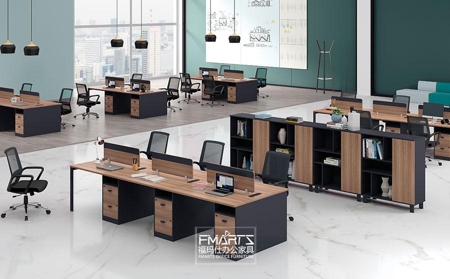 简约板式职员桌