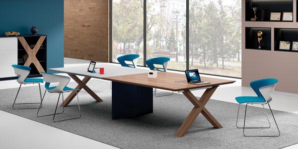 福玛仕办公家具|简格系列会议桌展厅实物展示
