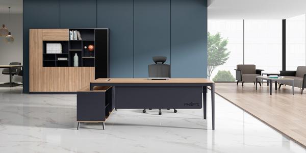福玛仕办公家具|维克系列经理办公桌文件柜组合展厅实物展示视频