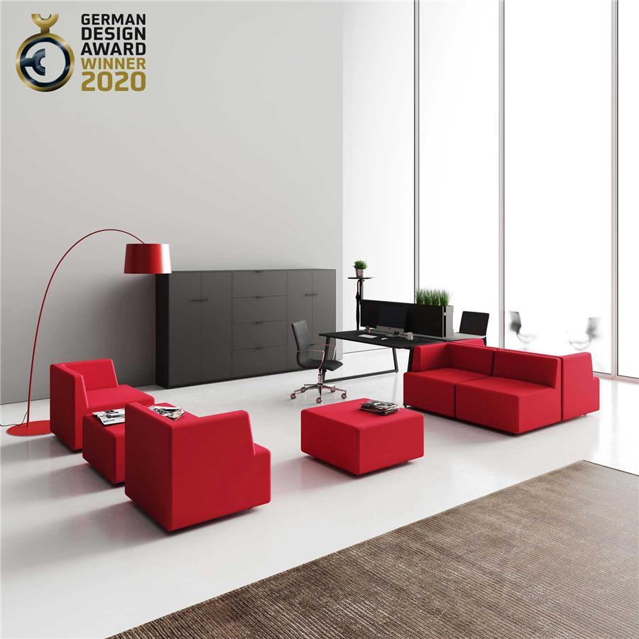 红色办公沙发
