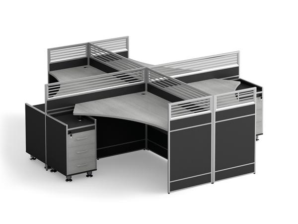屏风组合办公桌