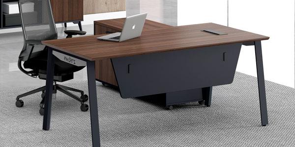 福玛仕办公家具|维纳系列板式经理桌书柜组合展示视频