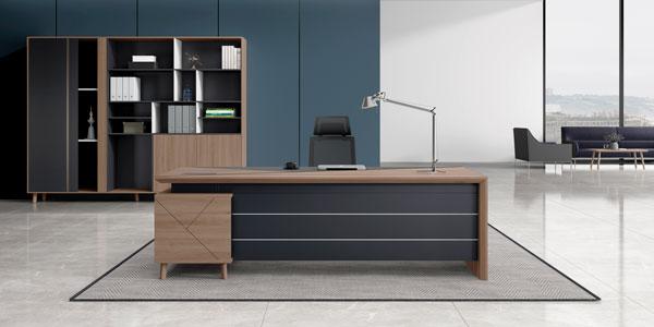 福玛仕办公家具|简悦系列板式班台文件柜组合展示实物拍摄