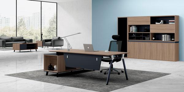福玛仕办公家具|维德系列主管办公桌书柜组合展示实物视频
