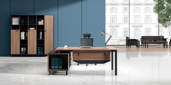 福玛仕办公家具|维加系列板式主管桌文件柜组合实物展示视频