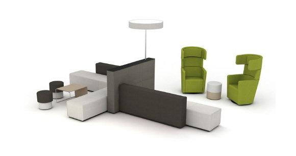 休闲区沙发组合